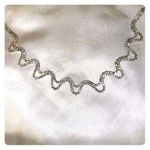 Stunning diamond Princess wave necklace!
